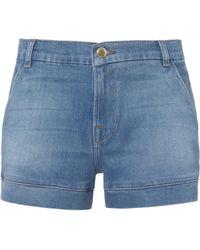 FRAME - Mitered Denim Shorts - Lyst