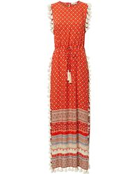 Nightcap - Pom Pom Fringe Maxi Dress - Lyst