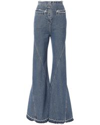 Esteban Cortazar - High-waist Bell Flare Jeans - Lyst