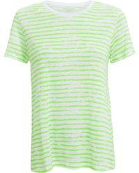Majestic Filatures - Linen Stripe Crew Neck T-shirt - Lyst
