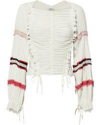 3.1 Phillip Lim - Gathered Pleated Top - Lyst