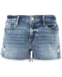 FRAME - Le Cut-off Denim Shorts - Lyst