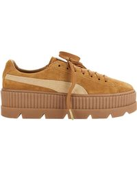 PUMA - Cleated Brown Suede Creeper Sneakers - Lyst