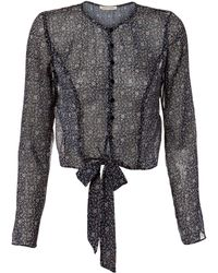 The East Order - Franca Tie Front Top - Lyst