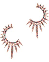 Nickho Rey - Statement Sunburst Earrings - Lyst