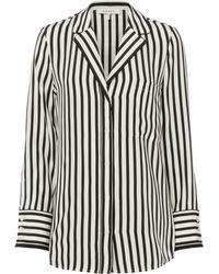FRAME   Striped Pajama Blouse   Lyst