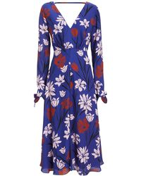 d4f52e5396c La Maison Talulah - Fleeting Floral Long Sleeve Dress Blue floral P - Lyst