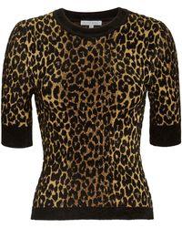 Ronny Kobo - Leopard Print Knit Top - Lyst