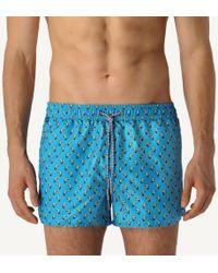 40197c21e6 Sundek Toucan Print Nylon Swim Shorts in Blue for Men - Lyst