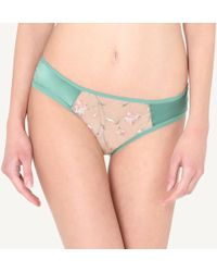 1525a5bab0ae9 Lyst - Intimissimi Ultra-lightweight Microfiber And Tulle Hiphuggers ...