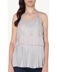 edc020f7c13 Intimissimi - Pleated Flounces And Lace Detail Top - Lyst
