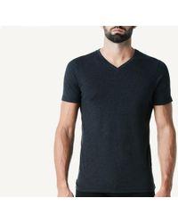 Intimissimi - Short Sleeve V-neck T Shirt In Supima® Cotton - Lyst
