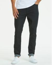 Jacamo - Slim Coated Black Jeans 29 In - Lyst