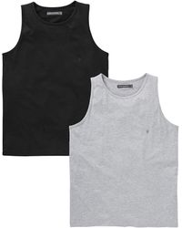 French Connection - 2 Pack Vests - Lyst