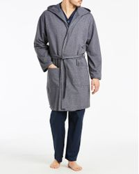 580ea6816c2f12 Ted Baker Navy Cotton Dressing Gown in Blue for Men - Lyst