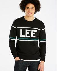 Lee Jeans - 90's Black Logo Crew Sweat - Lyst