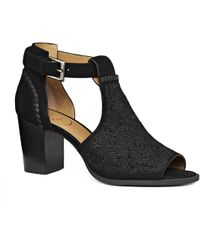 Jack Rogers - Embroidered Cameron Suede Open Toe Bootie - Lyst