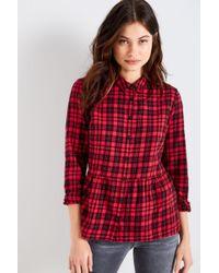 Jack Wills - Highcliffe Check Peplum Shirt - Lyst