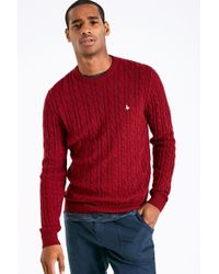 Jack Wills - Marlow Cable Crew Neck Jumper - Lyst