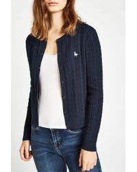 Jack Wills - Langford Cable Cardigan - Lyst