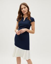 Jaeger - Curved Colour Block Dress - Lyst