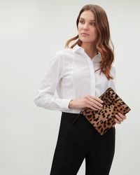 Jaeger - Large Esther Leopard Pouch - Lyst