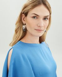 Jaeger - Grape Pearl Earrings - Lyst