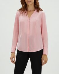 Jaeger - Seam Detail Silk Blouse - Lyst