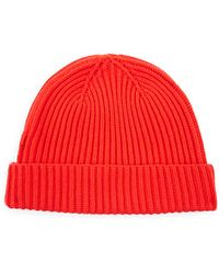 Jaeger - Wool Ribbed Beanie - Lyst