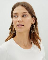 Jaeger - Lauren Angled Hoop Earrings - Lyst