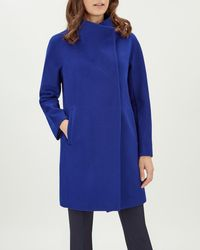 Jaeger - Wool Seam Cocoon Wrap Coat - Lyst