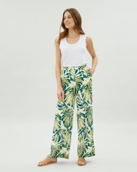 Jaeger - Cheese Plant Print Wide Leg Trouser - Lyst