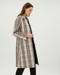 Jaeger - Check Trench Coat - Lyst