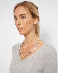Jaeger - Melissa Metal And Crystal Loop Short Necklace - Lyst