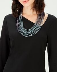Jaeger - Ombre Multi Row Beaded Necklace - Lyst