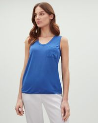 Jaeger - Slouchy Jersey Vest - Lyst