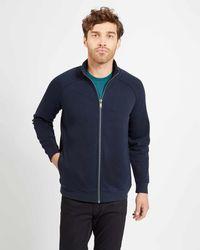 Jaeger - Texture Zip Through Sweatshirt - Lyst