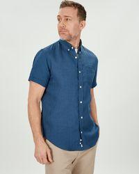 Jaeger - Short Sleeve Linen Shirt - Lyst