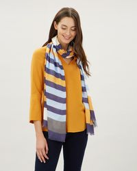 Jaeger - Large Stripes Scarf - Lyst