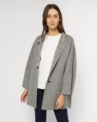 Jaeger   Double Faced Wool Cape Coat   Lyst