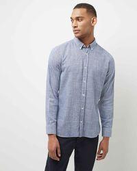 Jaeger - Cotton Cross-weave Shirt - Lyst