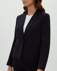 Jaeger - Cropped Single Breasted Jacket - Lyst