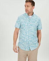 Jaeger - Palm Print Shirt - Lyst