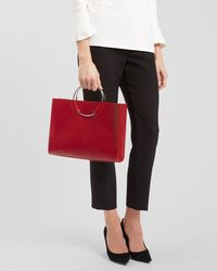 Jaeger - Ring Handle Tote - Lyst