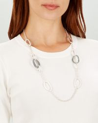 Jaeger - Oval Links Station Necklace - Lyst