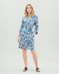 a5dc2bd15d2 Lyst - ASOS Trapeze Midi Sundress In Squiggle Print