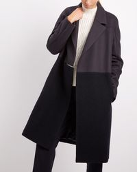 Jaeger   Boiled Wool Mix Coat   Lyst