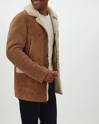 Jaeger - Shearling Overcoat - Lyst