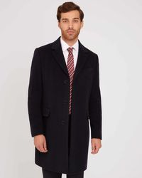 Jaeger - Wool And Cashmere Overcoat - Lyst