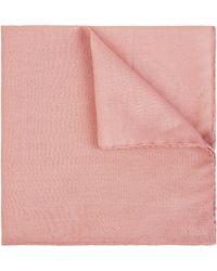 Jaeger Cotton Silk Pocket Square - Pink